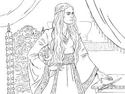 game of thrones colouring in page cersei colouring in pages