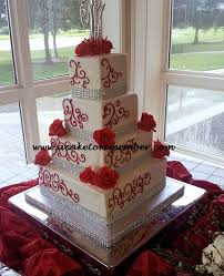 Red And Silver Wedding Modern Wedding Cakes For The Holiday Wedding Cakes Red And Silver