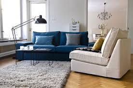 Nockeby Sofa Hack Ikea Kivik 3 Seater Couch With Bemz Teal Blue Panama Cotton