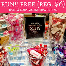 travel size products images Run free regular up to 6 bath body works travel size jpg