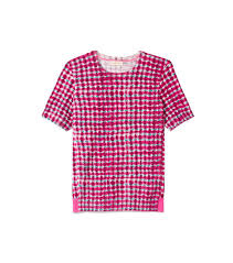 Tory Burch Plus Size Clothing Tory Burch Printed Crewneck Sweater In Pink Lyst