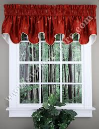 Burgundy Valances For Windows Fleur De Lis Duchess Filler Valance Red Ellis Kitchen Valances
