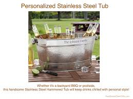 personalized stainless steel tub realtor housewarming thank you