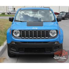 jeep renegade light blue jeep renegade hood trailhawk style center hood blackout decal