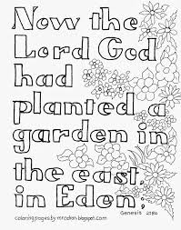 coloring pages for kids by mr adron garden of eden bible verse