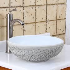 elite 1575 round white and gray willow porcelain ceramic bathroom