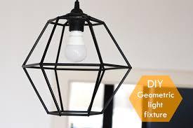 Diy Light Fixtures Diy Geometric Pendant Light Fixture Pearls And Scissors