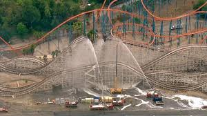 Six Flags Facts Colossus Six Flags Magic Mountain Fire Best Mountain 2017
