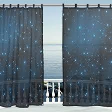 Tie Top Curtain Panels Amazon Com Alaza Window Decoration Sheer Curtain Panels Galaxy