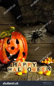 happy halloween wooden blocks jack o stock photo 481639069