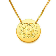 monogrammed necklace gold monogram necklace 14k necklace 0 8 from personalmonogram on