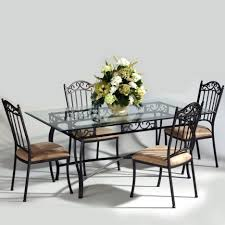 dining room dining table set with rectangular glass tabletop