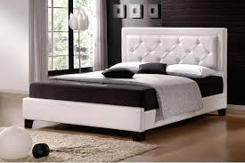 White King Size Bed Frame King Size Bed Frame With Headboard White Leather Modern House