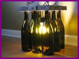 lights made out of wine bottles best reclaimed wood and wine bottle chandelier by