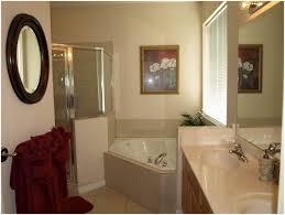 peach colored bathroom