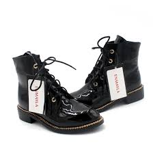 low motorcycle boots enmayla low heels chains lace up ankle boots for women round toe