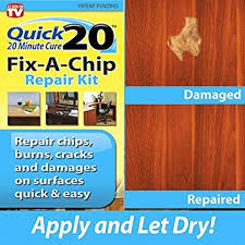 how to fix wood paneling amazon com quick 20 fix a chip repair kit repairs chips burns