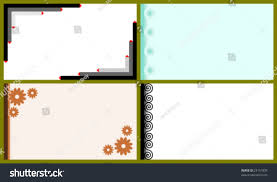 Business Cards Mini Vector Set Business Cards Mini Greeting Stock Vector 23151835