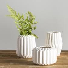 white vase modern vases allmodern