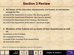 Define Cabinet Departments Government Chapter 15 Powerpoint
