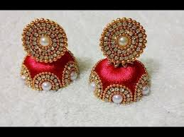 beautiful silk thread earrings designs jhumkas collection