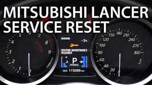 how to reset service in mitsubishi lancer x routine maintenance