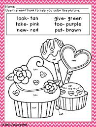 color me lovely 12 coloring sheets for numbers and sight words