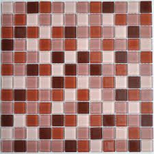 glass mosaic tile brown kitchen backsplash designs bathroom wall
