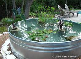how to make a stock tank pond read more http www penick net