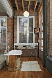 20 stylish bathrooms with brick walls and ceilings stylish small