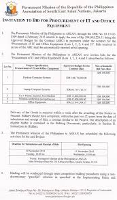 bid 4 it second notice invitation to bid for procurement of it and office