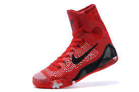 christmas kobes nike 9 elite christmas high top bright crimson black white