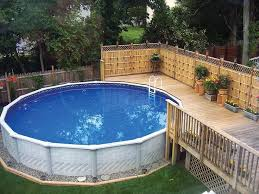 Decorating Around The Pool 95 Best Above Ground Pool Landscaping Images On Pinterest