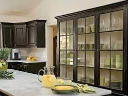 Kitchen Cabinet With Glass Doors Black Kitchen Cabinets With Glass Doors Smith Design Black