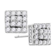 cluster stud earrings 105875 diamond cluster stud earrings