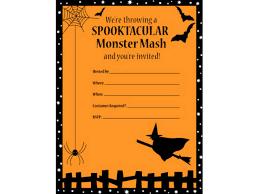 fabulous blank halloween invitations with blank halloween