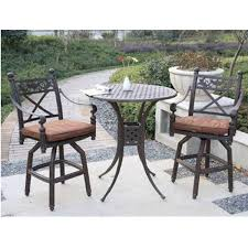 Bistro Patio Table And Chairs Set Endearing Bar Height Bistro Table Outdoor Mamagreen Allux Teak