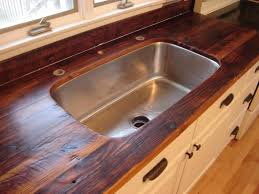 Wooden Kitchen Countertops by Awesome Live Edge Kitchen Counter Built With 2 Inch Thick Hemlock
