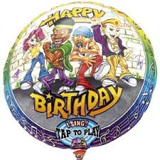 singing birthday delivery singing balloon rappers delight birthday buy helium balloons