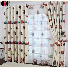Nursery Room Curtains Boys Cars Curtains And Tulle Blackout Drapes Cloth Nursery Baby