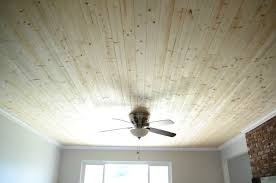 plank ceiling over popcorn ceiling diy