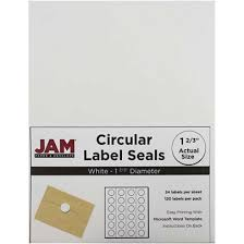 jam paper circle label sticker seals 1 1116 white pack of 120 by