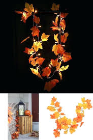 Garland With Lights Fall Garland With Lights Led Lighted Leaf Harvest Fall Leaves