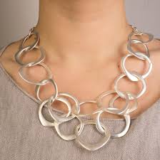 multi necklace images Short brush silver multi circle necklace jane mckenzie jewellery jpg