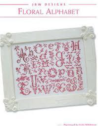 jbw designs floral alphabet cross stitch pattern 123stitch com