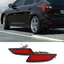 2014 ford focus tail light 2pcs lot car brake led rear bumper light warning l for ford focus