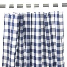 Navy Blue Plaid Curtains Navy Gingham Curtains Products Pinterest Gingham Curtains
