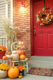 Fall Decorations For Outside The Home Best 25 Fall Front Doors Ideas On Pinterest House Styles
