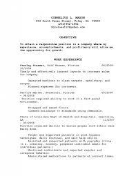 resume objective exles for service crew job food service resume combination food service resume download