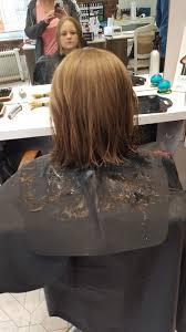 hannah is having her hair cut off little princess trust
